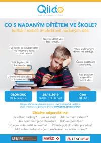 Setkání rodičů intelektově nadaných dětí: Co s nadaným dítětem ve škole? (listopad 2019
